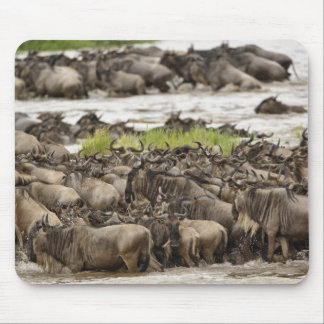 Massive Wildebeest herd during migration, Mouse Pad