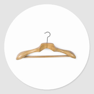 massive wooden coat hanger classic round sticker