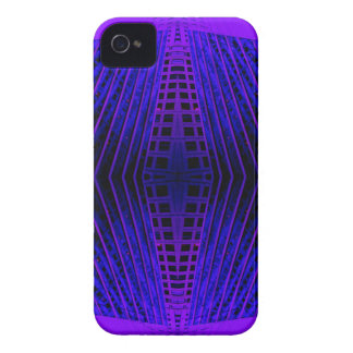 Massively Purple City Urban Night Art Geometry iPhone 4 Case
