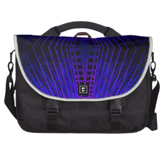 Massively Purple City Urban Night Art Geometry Commuter Bags