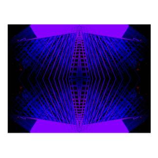 Massively Purple City Urban Night Art Geometry Postcard
