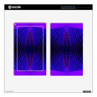 Massively Purple City Urban Night Art Geometry Skin For Kindle Fire