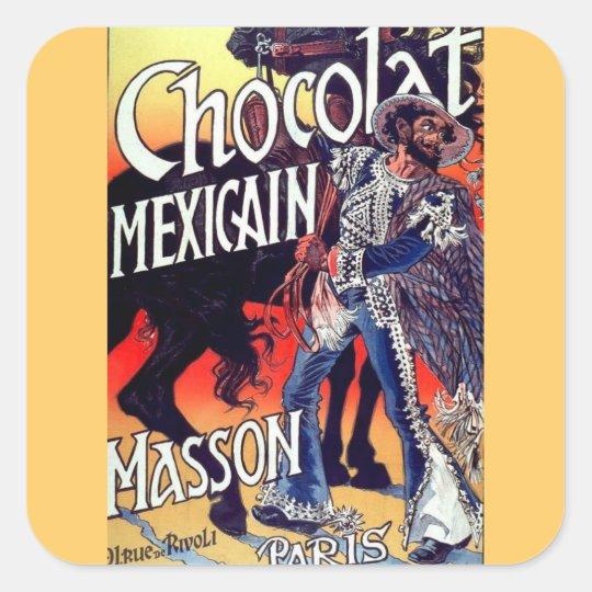 Masson Mexican Chocolate Vintage Ad Square Sticker