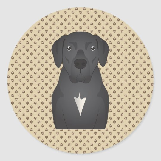 Mastador Cartoon Classic Round Sticker