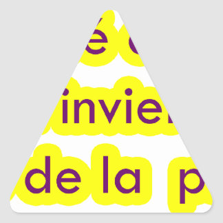 Mastar frases 17.03 triangle sticker