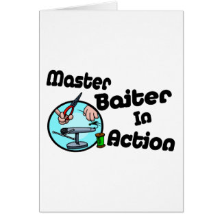 Master Baiter Greeting Cards