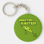 Master Baiter Fishes By Himself Basic Round Button Keychain