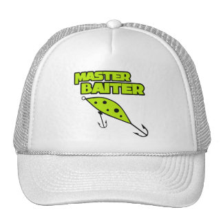 Master Baiter Fishes By Himself Mesh Hats