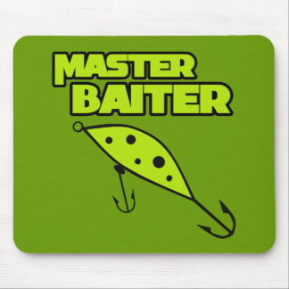 Master Baiter Fishes By Himself Mouse Pad