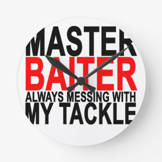 Master Baiter - Funny Fishing.png Round Clock