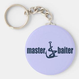 Master Baiter Basic Round Button Keychain
