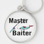 Master Baiter Silver-Colored Round Keychain