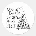 MASTER BAITERS CATCH MORE FISH ROUND STICKER