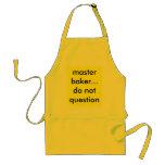 master baker...do not question apron