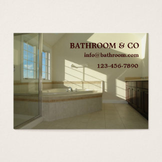 master bathroom business card