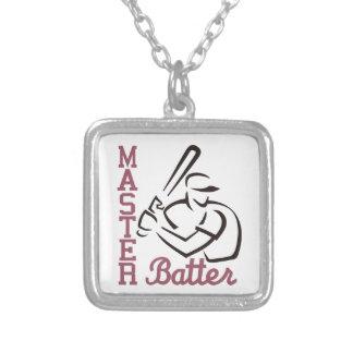 Master Batter Square Pendant Necklace