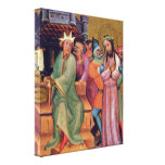 Master Bertram - Christ before Pilate Stretched Canvas Prints