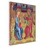 Master Bertram - Coronation of Mary Stretched Canvas Prints