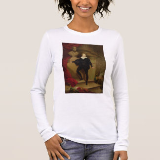 Master Betty as Hamlet before a bust of Shakespear Long Sleeve T-Shirt