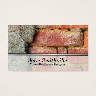 Master Brick Layer and Designer Business Card