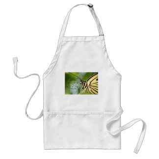 Master Butterfly Photo and quote Adult Apron