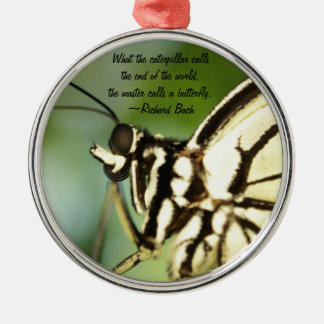 Master Butterfly Photo and quote Christmas Ornament