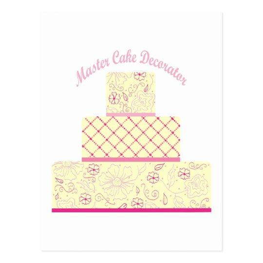 master cake decorator postcard