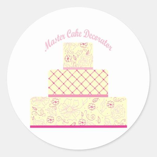 Master Cake Decorator Round Stickers