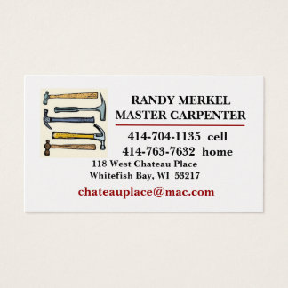 MASTER CARPENTER BUSINESS CARD