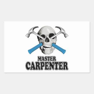 Master Carpenter Skull Rectangular Stickers