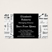 Master chef business cards templates zazzle reheart Image collections