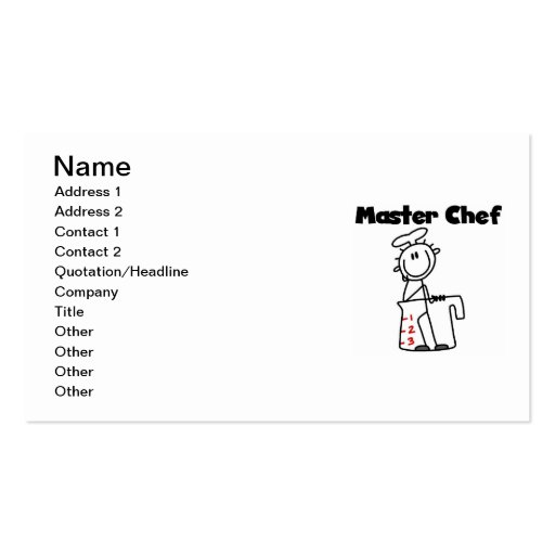 Master Chef Business Card Template