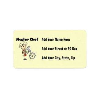 Master Chef - Female Address Label