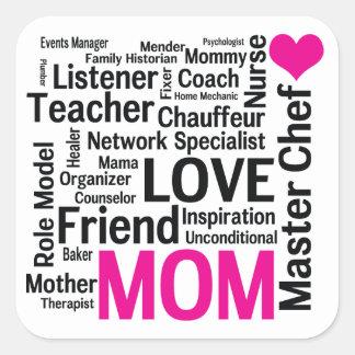 Master Chef Mom - Mother's Day Appreciation Square Sticker