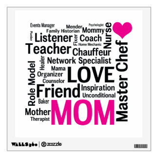 Master Chef Mom - Mother's Day or Birthday Room Sticker