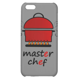 Master Chef With Hot Pot And Lid On Flames iPhone 5C Case