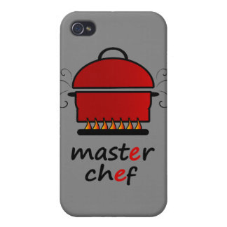 Master Chef With Hot Pot And Lid On Flames iPhone 4/4S Cover