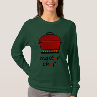 Master Chef With Hot Pot And Lid On Flames T-Shirt