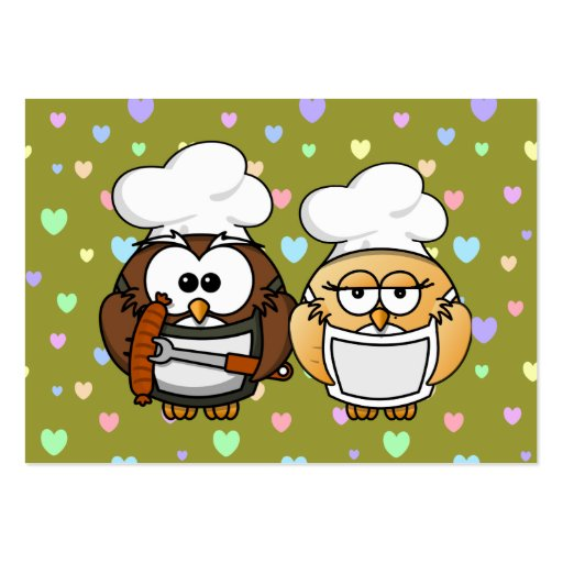 master chefs owl business card template