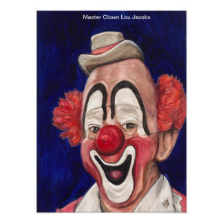 Master Clown Lou Jacobs Poster