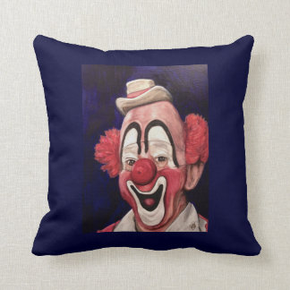 Master Clown Lou Jacobs Throw Pillow