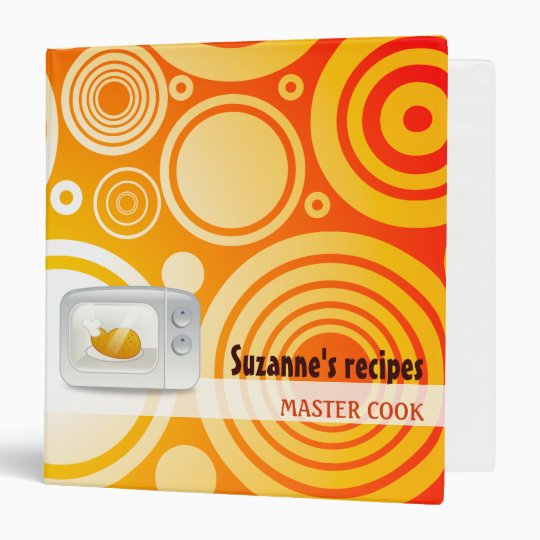 MASTER COOK - Custom binder with your name