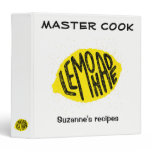 MASTER COOK LEMONADE with your name Binder