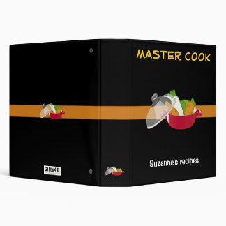 MASTER COOK with your name 3 Ring Binder