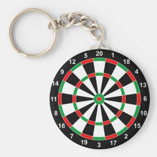 Master Darts Board Basic Round Target Classic game Basic Round Button Keychain