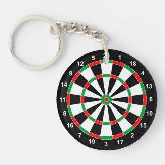 Master Darts Board Basic Round Target Classic game Double-Sided Round Acrylic Keychain