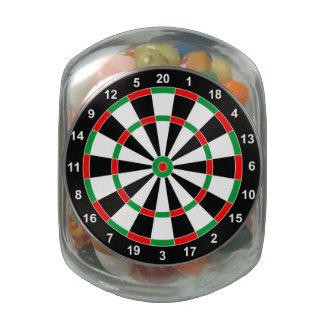Master Darts Board Basic Round Target Classic game Glass Candy Jar