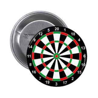 Master Darts Board Basic Round Target Classic game Pinback Button