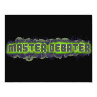 Master Debater Personalized Announcement