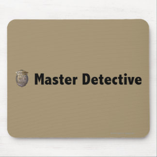 Master Detective Black Mouse Pads